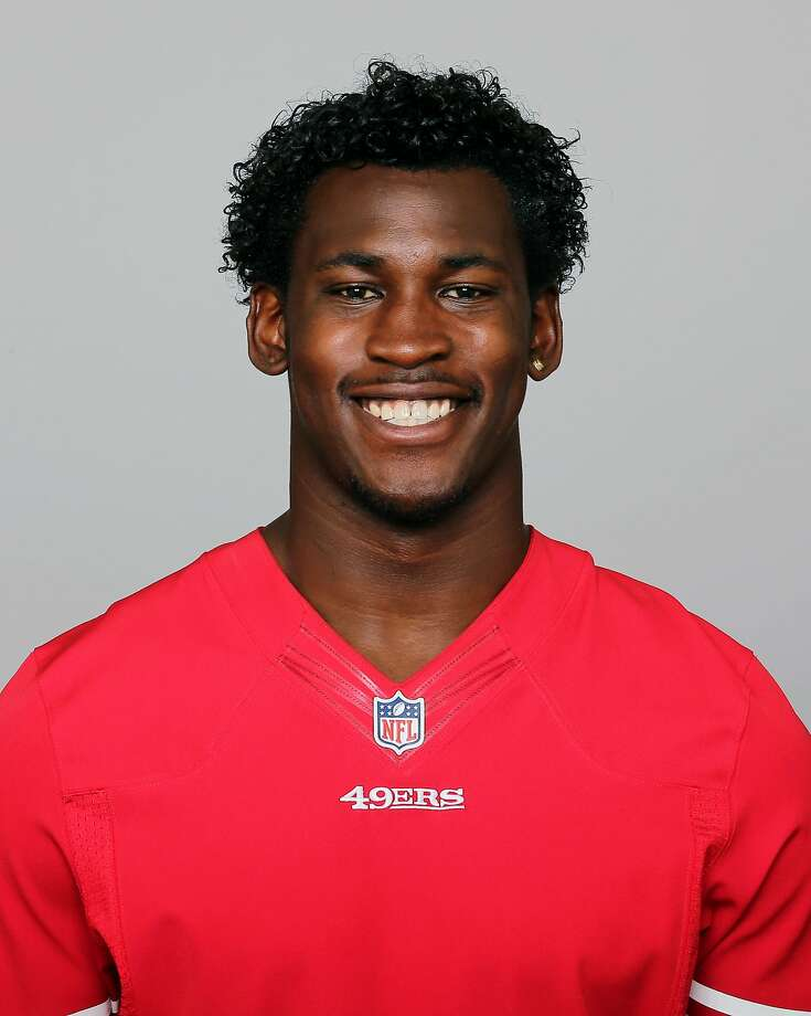 In this 2013 photo, San Francisco 49ers' Aldon Smith poses for a photo, location not known. Smith has been arrested at Los Angeles International Airport after authorities said he became belligerent during a security screening and threatened that he had a bomb. LAPD Sgt. Michael Fox said Smith was booked Sunday afternoon, April 13, 2014. (AP Photo) Photo: Associated Press