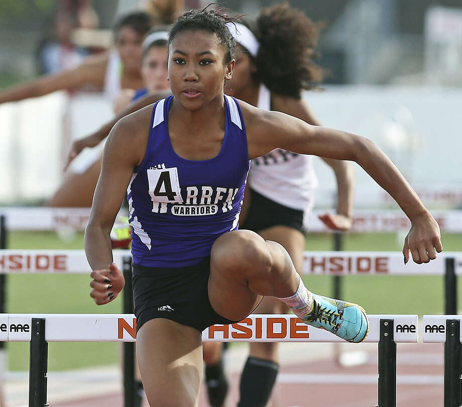 "Warren's Jerica Love is hoping to defend her regional titles in the 100- and 300-meter hurdles. Said Love: ""The hunger I have for (reaching) state is unreal. I want it. I want it a lot."" Photo: Tom Reel / San Antonio Express-News"