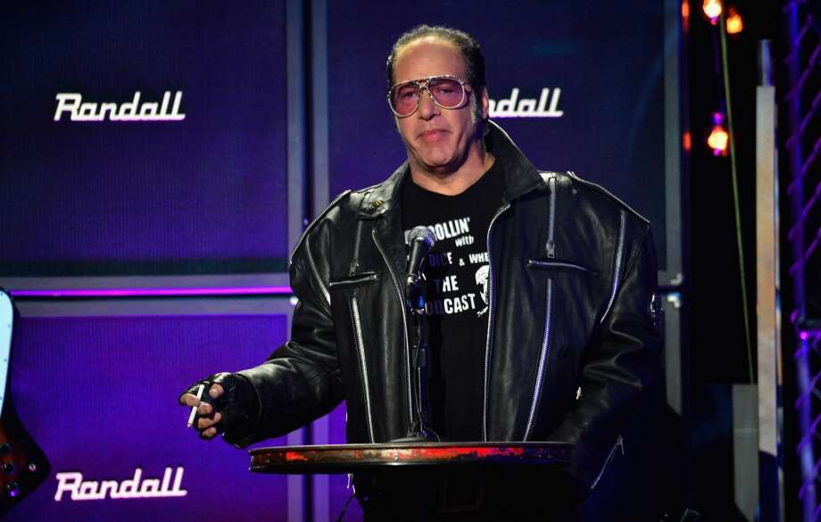Comedian Andrew Dice Clay speaks onstage at the 2014 Revolver Golden Gods Awards at Club Nokia on April 23, 2014 in Los Angeles, California. Photo: Frazer Harrison, Getty Images