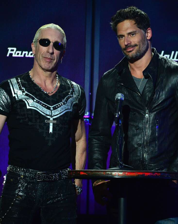 Musician Dee Snider and actor Joe Manganiello (R) speak onstage at the 2014 Revolver Golden Gods Awards at Club Nokia on April 23, 2014 in Los Angeles, California. Photo: Frazer Harrison, Getty Images