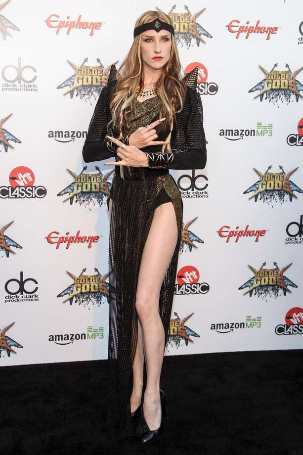 Vocalist Jill Janus of Huntress attends the 6th Annual Revolver Golden Gods Award Show at Club Nokia on April 23, 2014 in Los Angeles, California. Photo: Paul A. Hebert, Associated Press