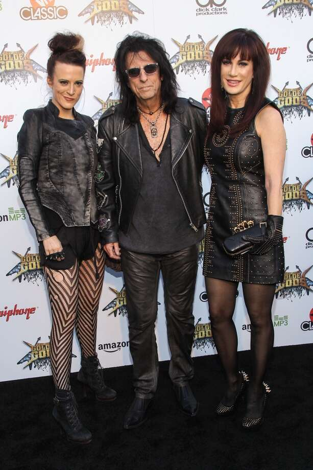 From left Calico Cooper, Alice Cooper, and Sheryl Goddard attend the 6th Annual Revolver Golden Gods Award Show at Club Nokia on April 23, 2014 in Los Angeles, California. Photo: Paul A. Hebert, Associated Press