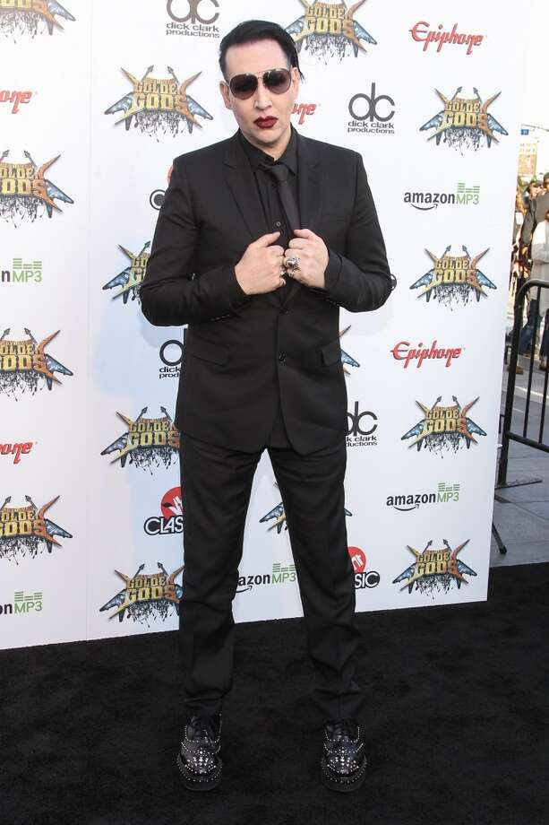 Singer Marilyn Manson attends the 6th Annual Revolver Golden Gods Award Show at Club Nokia on April 23, 2014 in Los Angeles, California. Photo: Paul A. Hebert, Associated Press