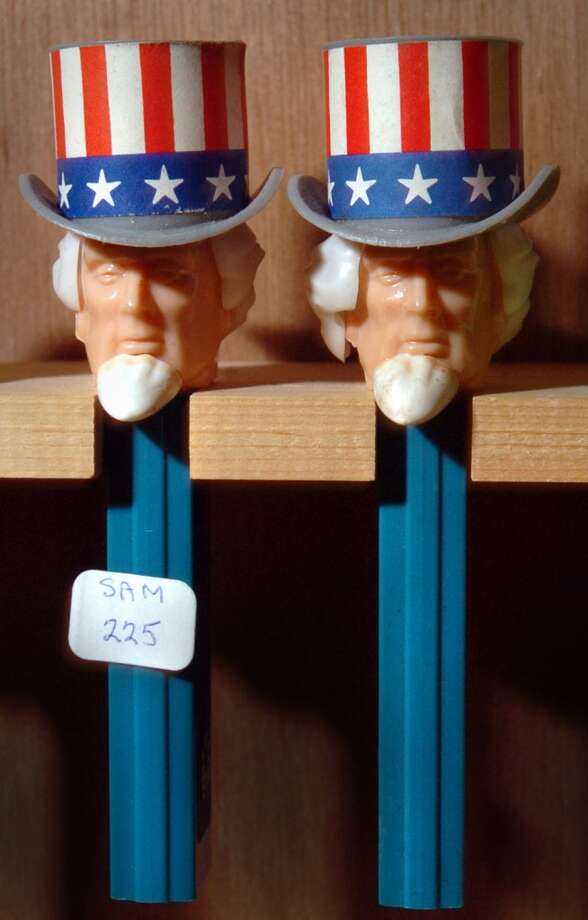 Stamford_040105_Pez Convention: Uncle Sam wants you! If you want him as a Pez dispenser, it'll cost you $225.00. by Paul Desmarais/ Staff photo: METRO Photo: ST