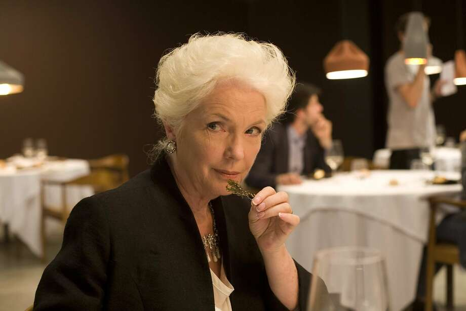 "Fionnula Flanagan in ""Tasting Menu,"" in which she plays a meddling countess who brings an urn filled with her late husband's ashes to dinner at a fancy restaurant. Photo: Magnolia Pictures 2014"