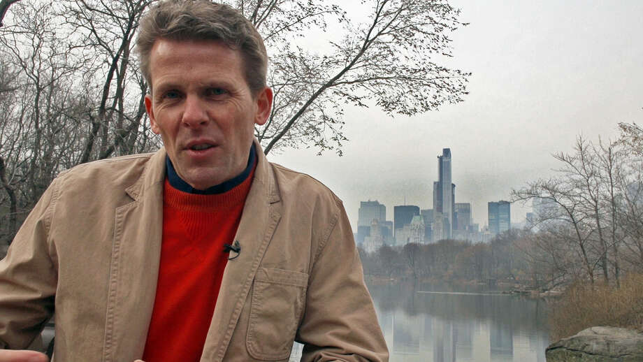 Drew Williams, pastor of Trinity Church in Greenwich, Conn. uses New York City as a backdrop for three videos he has made to deliver his Holy Week/Easter message using social media. In this scene he films in Central Park. Photo: Contributed Photo / Greenwich Time Contributed