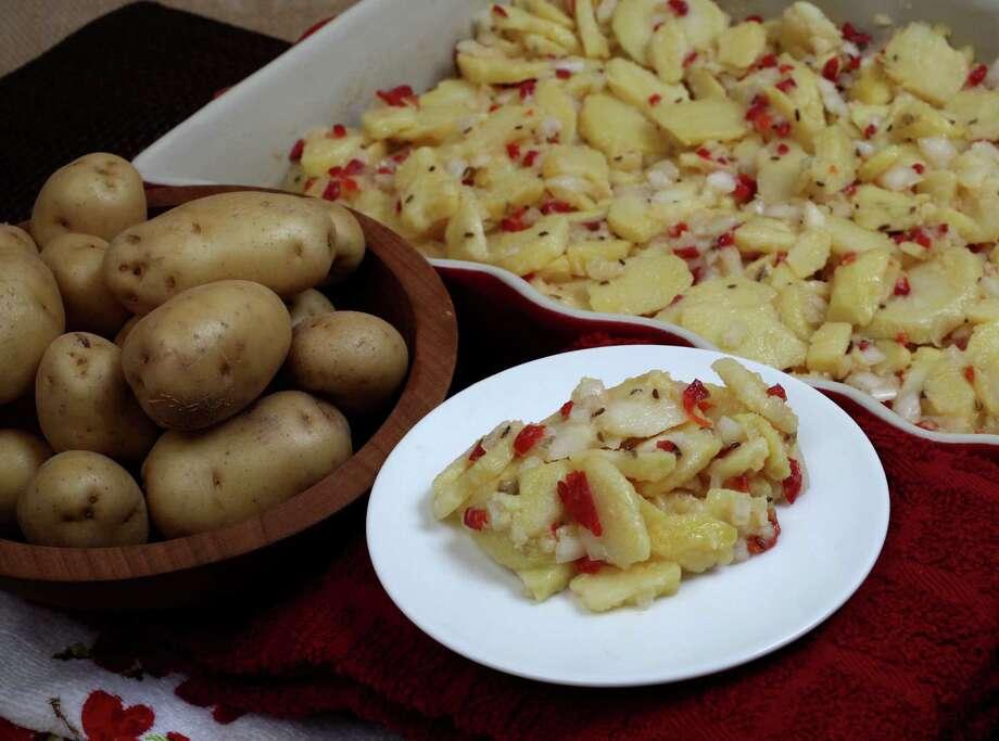 Winnie's German Potato salad. April 23, 2014 Photo: Juanito Garza, San Antonio Express-News / San Antonio Express-News