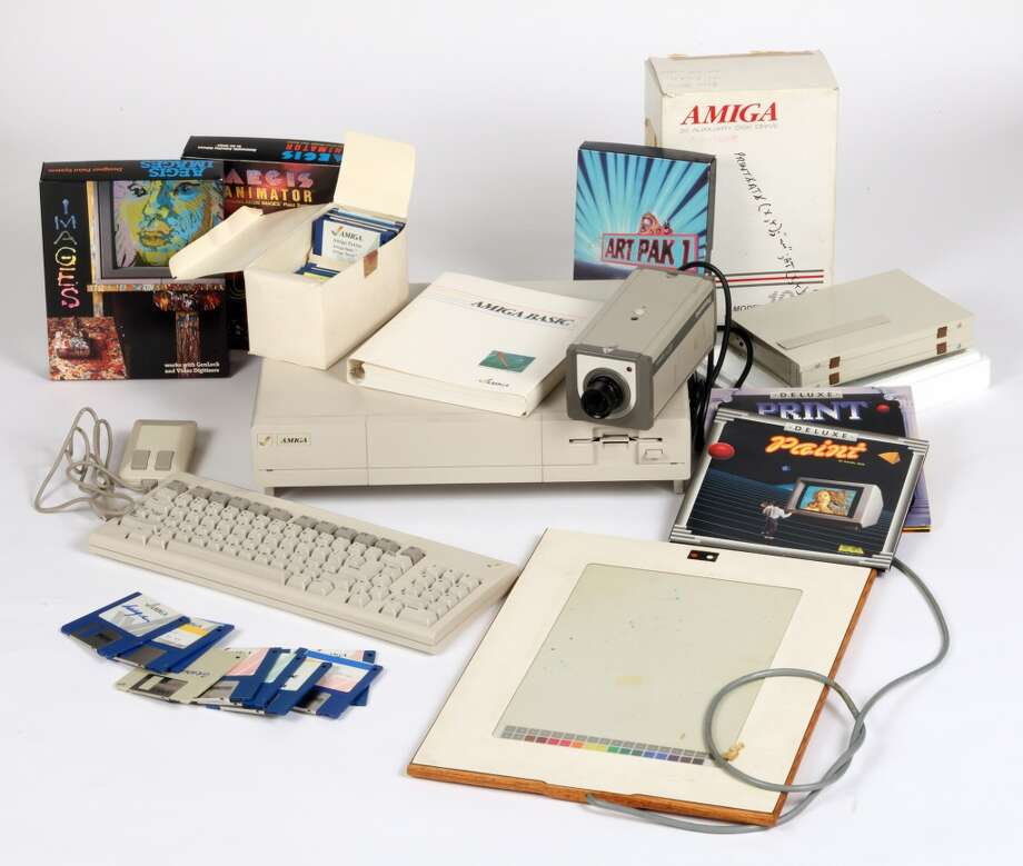 Commodore Amiga computer equipment used by Andy Warhol in 1985 and 1986. Photo: Courtesy Of The Andy Warhol Museum
