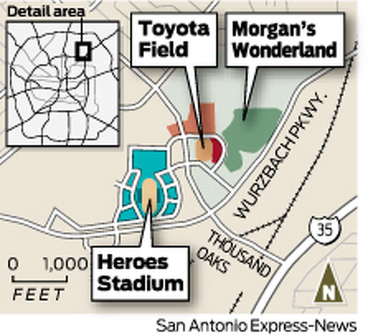 Major League Soccer is seeking a market that can build a stadium downtown. Toyota Field in San Antonio is approximately 15 miles northeast of downtown San Antonio.Click through the slideshow to see reasons San Antonio could get or may not get another soccer team.