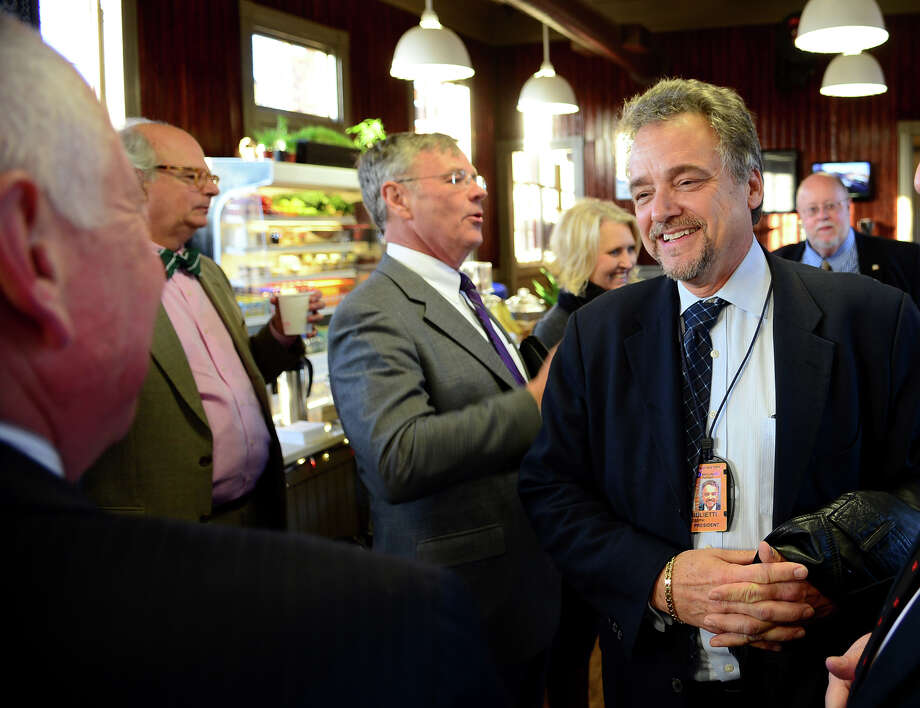 Metro-North Railroad President Joseph Giulietti arrives at Steam Cafe, which is the restored train station in Westport, Conn. on Thursday April 24, 2014. Giulietti and other Metro-North staffers came out to address concernsof commuters in a question and answer session. Photo: Christian Abraham / Connecticut Post
