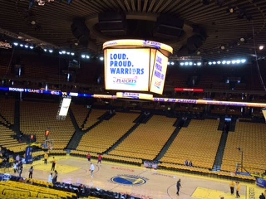 The yellow calm before the storm.  (Al Saracevic/SF Chronicle)