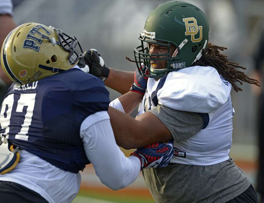 Notable  When guard Cyril Richardson came out of high school, his only scholarship offer was to Baylor, where he earned All-American honors as a three-year starter. Photo: G.M. ANDREWS, Associated Press