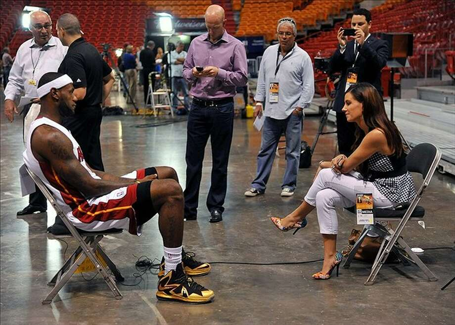 Miami Heat star LeBron James wore Jake Danklefs' customized sneakers to the team's media day in October and on the cover of Sports Illustrated for Kids magazine. Photo: Courtesy Photos, Jake Danklefs
