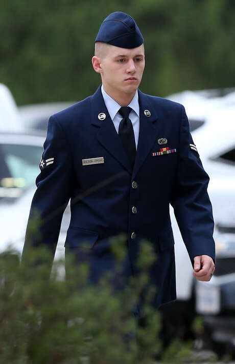 "Airman 1st Class Nathan G. Wilson-Crow, 22, said in a phone call, ""I feel like a bag of trash,"" after his accuser said she felt she had been raped, according to an investigator's testimony. Photo: Jerry Lara / San Antonio Express-News / © 2014 San Antonio Express-News"
