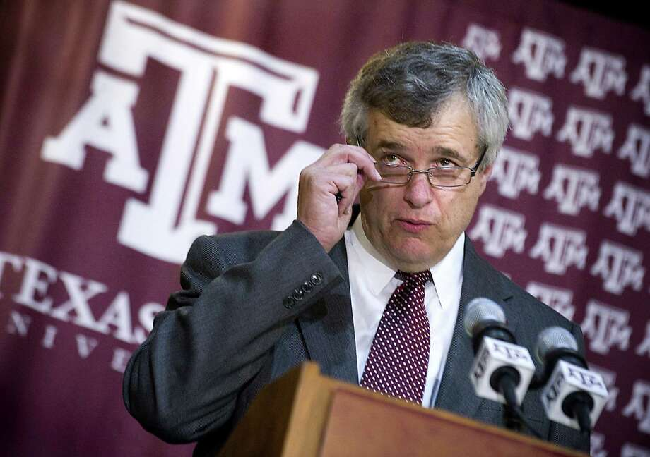 """Texas A&M athletic director Eric Hyman is a fanatic about winning, but he's also a fanatic about making sure the student athletes are """"contributors to society"""" after their playing days are over in College Station. Photo: Stuart Villanueva / Bryan-College Station Eagle / Bryan-College Station Eagle"""