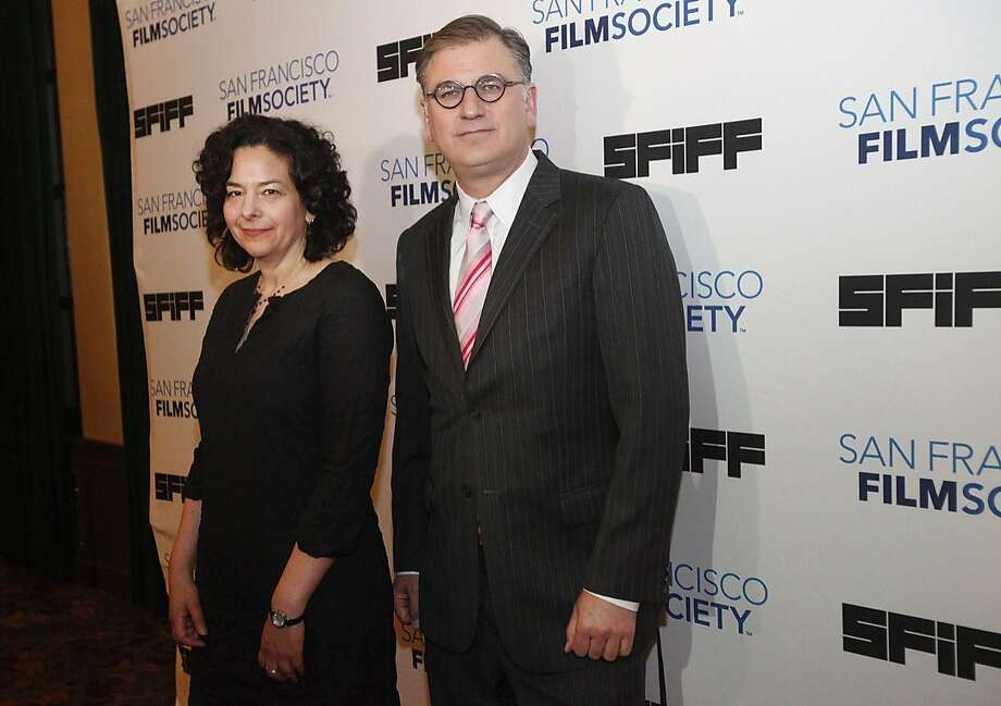 Rachel Rosen, Director of Programming at the San Francisco Film Society, left, and Noah Cowan, the Executive Director of San Francisco Film Society, pictured on the red carpet during the opening night of the San Francisco International Film Festival April 24, 2014 at the Castro Theatre in San Francisco, Calif. Photo: Leah Millis, San Francisco Chronicle
