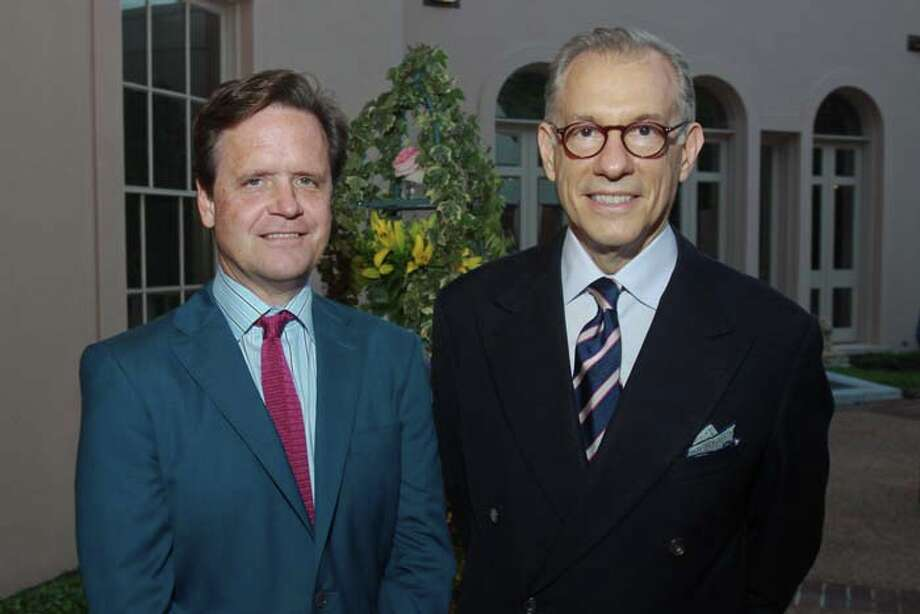 Christopher Gardner and Gary Tinterow at the 2014 Rienzi Spring Party. Photo: Gary Fountain, For The Chronicle / Copyright 2014 by Gary Fountain