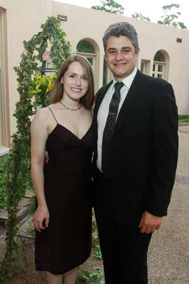 Gabrielle and Sebastien Matringe at the 2014 Rienzi Spring Party. Photo: Gary Fountain, For The Chronicle / Copyright 2014 by Gary Fountain
