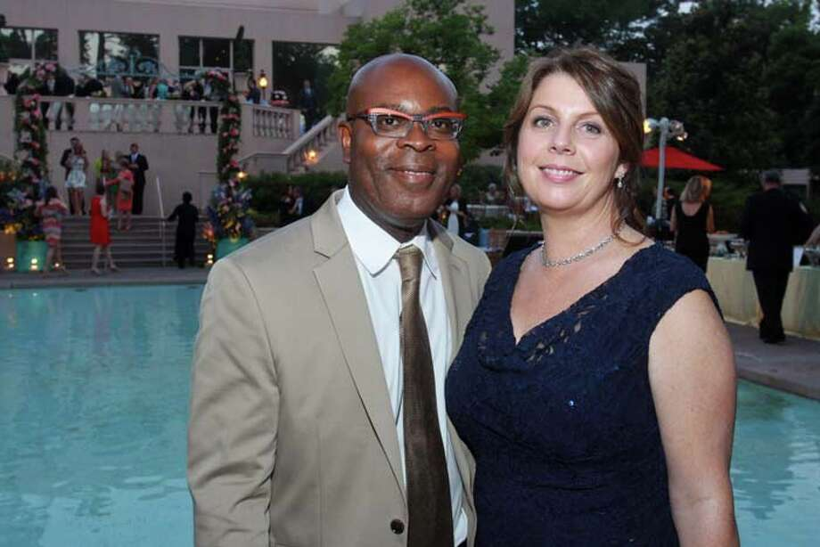 Eric and Claire Anyah at the 2014 Rienzi Spring Party. Photo: Gary Fountain, For The Chronicle / Copyright 2014 by Gary Fountain