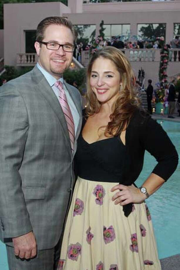 Chris Adams and Evangelia Anagnostopoulos at the 2014 Rienzi Spring Party. Photo: Gary Fountain, For The Chronicle / Copyright 2014 by Gary Fountain