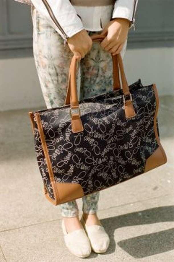 Lee received this Diane Von Furstenburg bag as a gift. Photo: William Rittenhouse