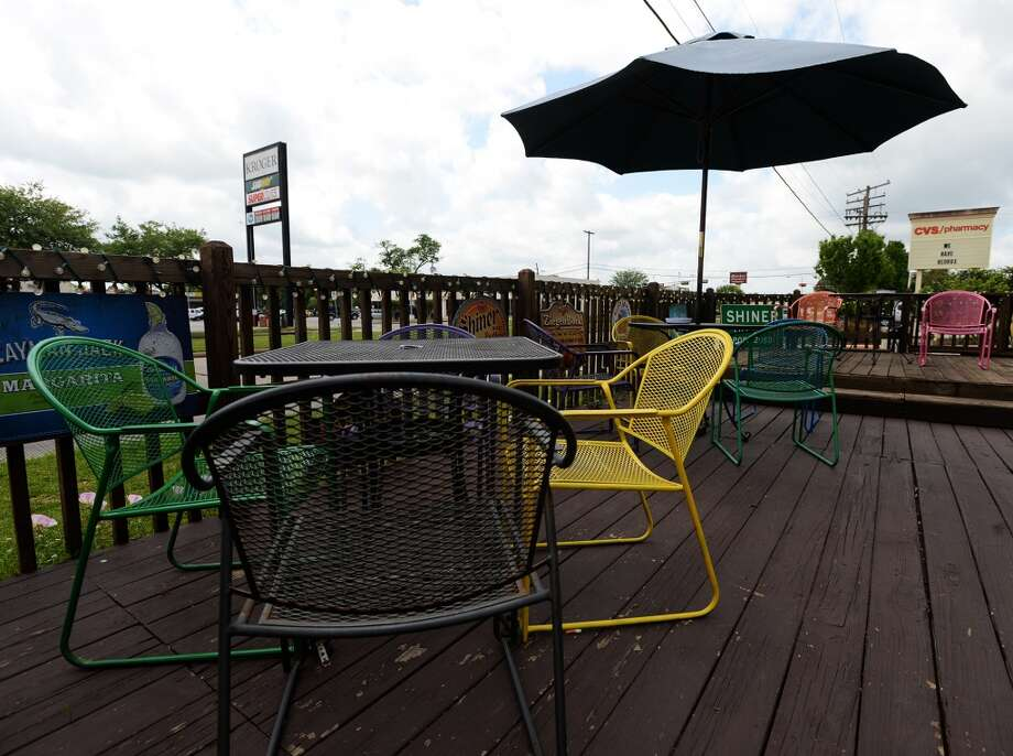 Pictured is the patio on the rear of Logon Cafe, shot on Saturday, April 12, 2014. Photo taken Saturday, 4/12/14 Jake Daniels/@JakeD_in_SETX