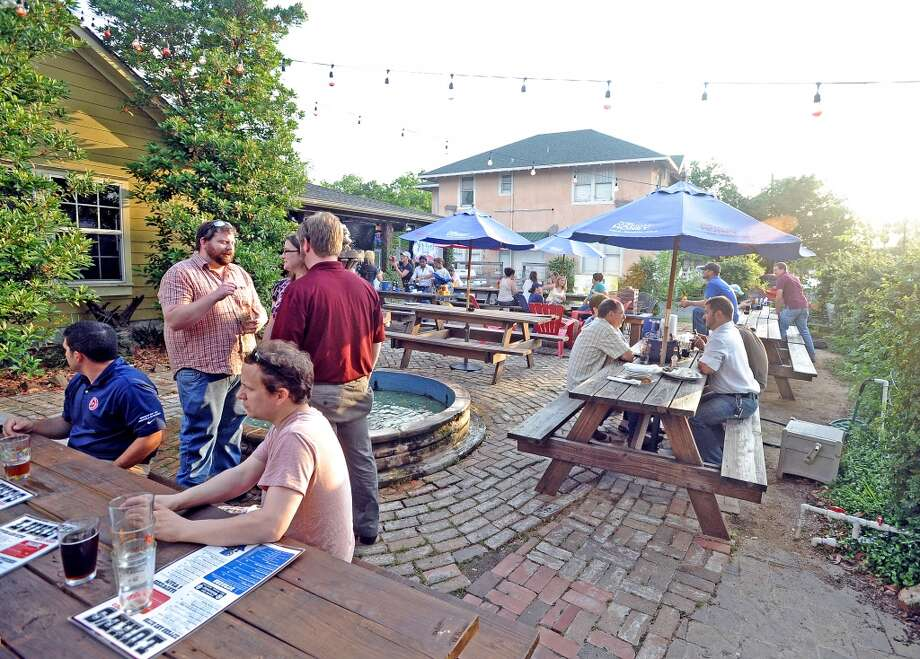 Saint Arnold Brewing Company holds a tap takeover at Luke's during American Craft Beer Week on Wednesday, May 16, 2013. Photo taken: Randy Edwards/The Enterprise