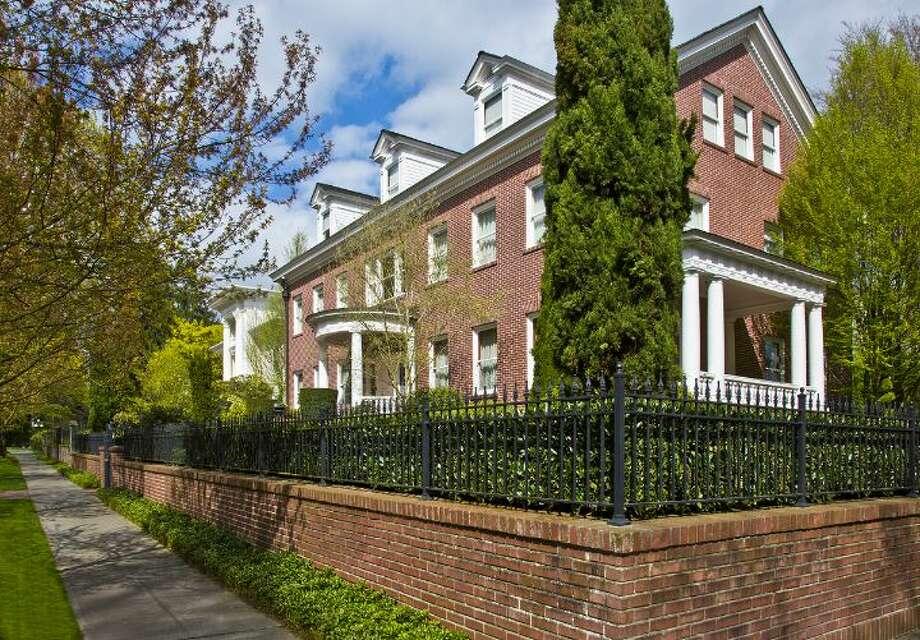 Exterior of the Eckstein estate. Photo: Courtesy Evan Wyman/Windermere Real Estate