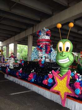 The Judson High float is seen before the start of the Battle of Flowers Parade on Friday, April 25, 2014. Photo: Michelle Casady, San Antonio Express-News