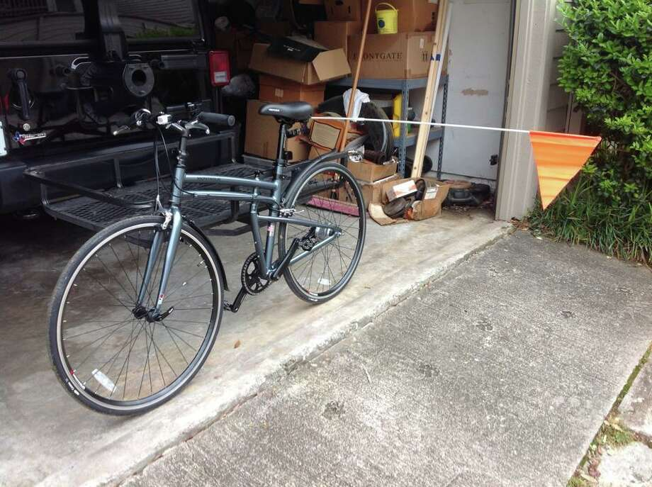 One of the bicycles that Dan Morgan has attached a flag pole to the side of (Photo: Dan Morgan)