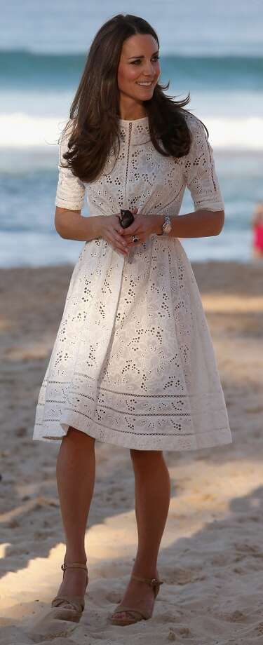 Catherine, Duchess of Cambridg dons a sundress and heeled sandals at an event on Manley Beach on April 18, 2014 in Sydney, Australia. Photo: Chris Jackson, Getty Images