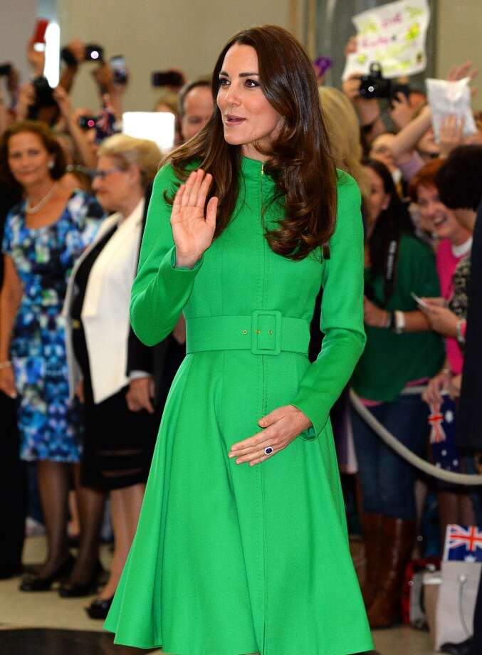 Catherine, Duchess of Cambridge waves to well-wishers at the Parliament House on April 24, 2014 in Canberra, Australia. Photo: Pool, Getty Images