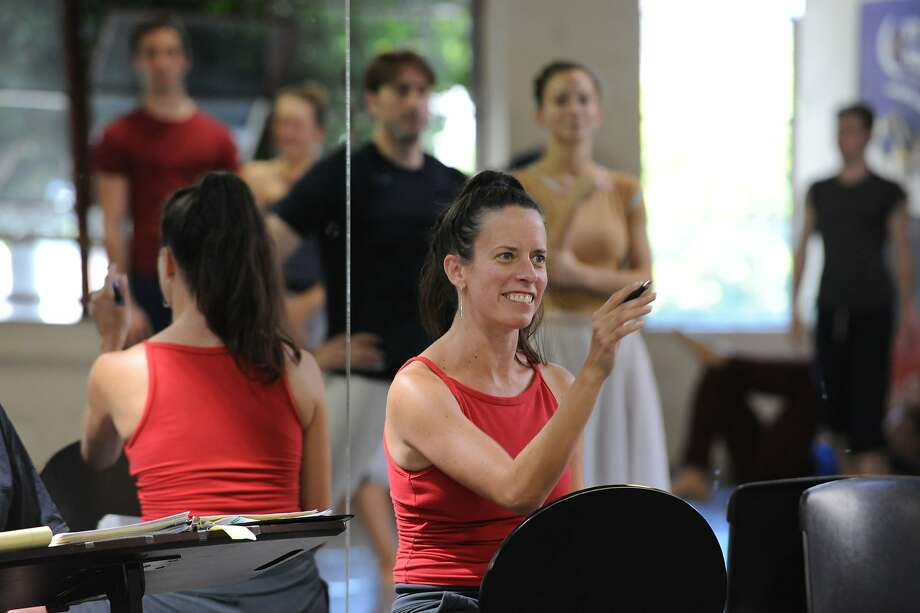 "Amy Seiwert, whose ballet ""But Now I Must Rest"" premieres Friday, rehearses the Smuin troupe. Photo: Scot Goodman"