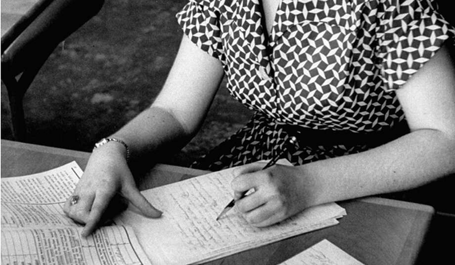 Someone was grading a paper, like with a red pen and everything. Photo: Ralph Morse, Time & Life Pictures/Getty Image / Time Life Pictures
