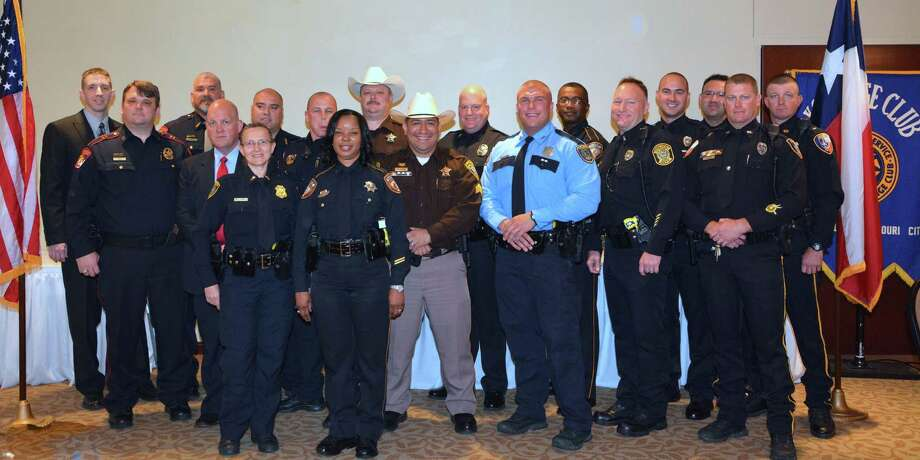 The 49th annual crime prevention luncheon sponsored by The Texas/Louisiana Gulf Coast District Exchange Clubs honored local police officers for their exemplary service. Photo: Sue Lockwood