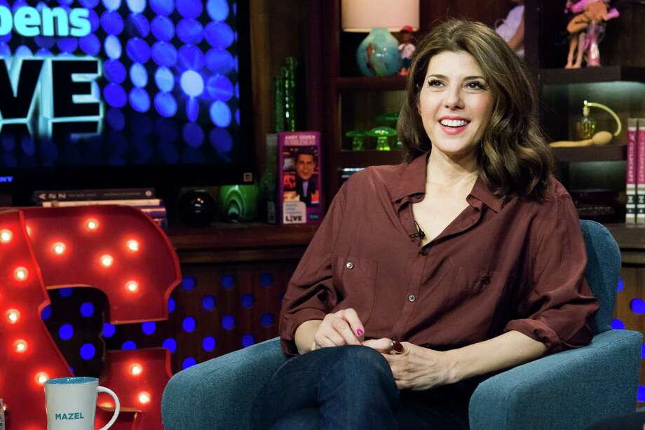"Marisa Tomei. Birthday: Dec. 4. (Photo: ""Watch What Happens Live"" set, April 23, 2014).  Photo: Bravo, Getty Images / 2014 Bravo Media LLC"