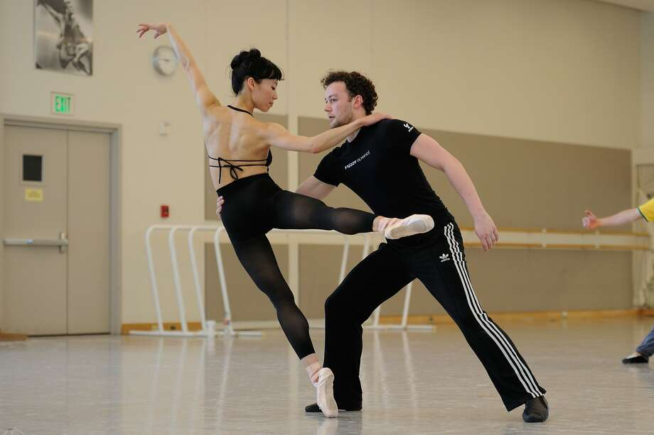 "Frances Chung and Liam Scarlett rehearse Scarlett's ""Hummingbird"" before it premieres at the San Francisco Ballet. Photo: Erik Tomasson, San Francisco Ballet"