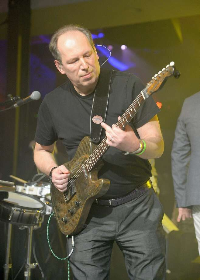 "Hans Zimmer performs at the after party for ""The Amazing Spider-Man 2"" premiere at Skylight at Moynihan Station on April 24, 2014 in New York City. Photo: Jamie McCarthy, Getty Images"