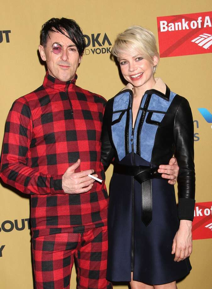 "Michelle Williams and Alan Cumming attend the Broadway opening night of ""Cabaret"" at Studio 54 on April 24, 2014 in New York City. Photo: Laura Cavanaugh, Getty Images"