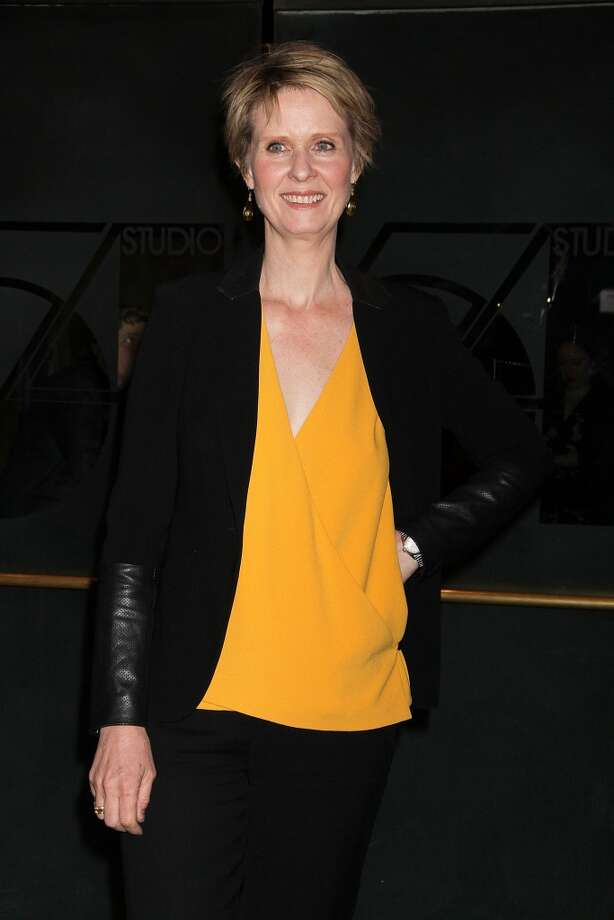 """Cynthia Nixon attends the Broadway opening night of """"Cabaret"""" at Studio 54 on April 24, 2014 in New York City. Photo: Laura Cavanaugh, Getty Images"""