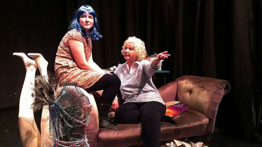 "Heather Kellogg (left) is troubled band leader Kristin Hersh, and Christina Augello is Betty Hutton, her close friend, in ""Rat Girl."" Photo: Claire Rice"