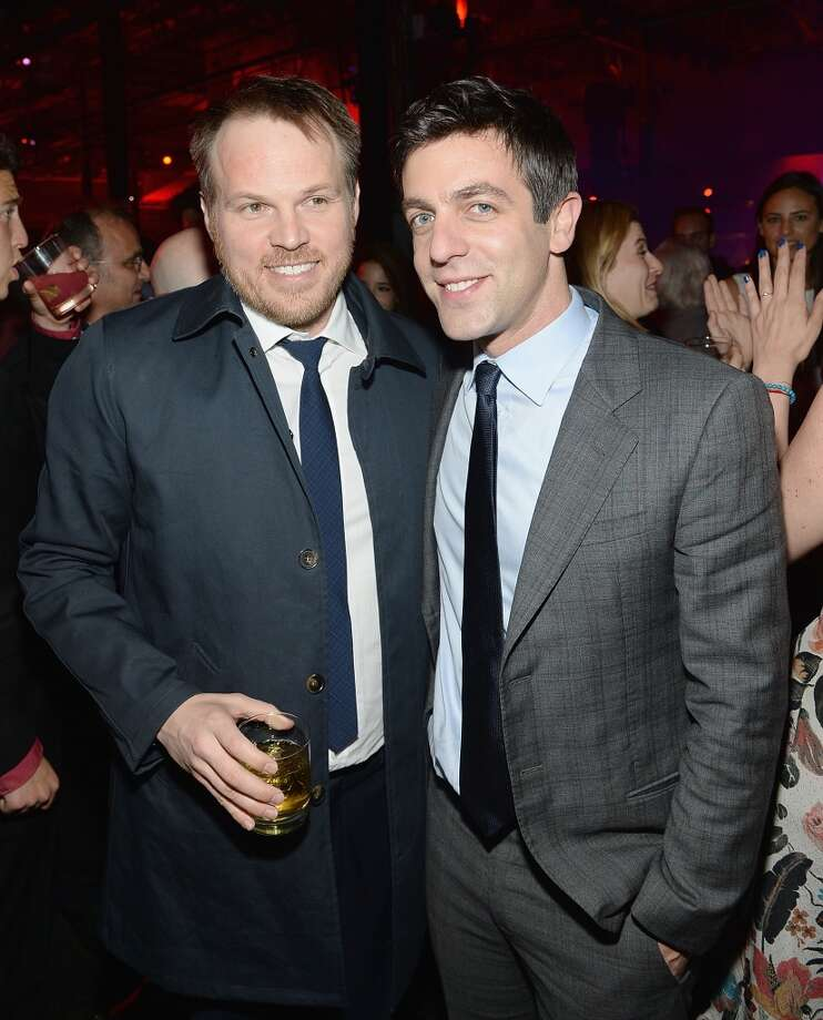 "Director Marc Webb and BJ Novak attend the after party for ""The Amazing Spider-Man 2"" premiere at Skylight at Moynihan Station on April 24, 2014 in New York City. Photo: Jamie McCarthy, Getty Images"