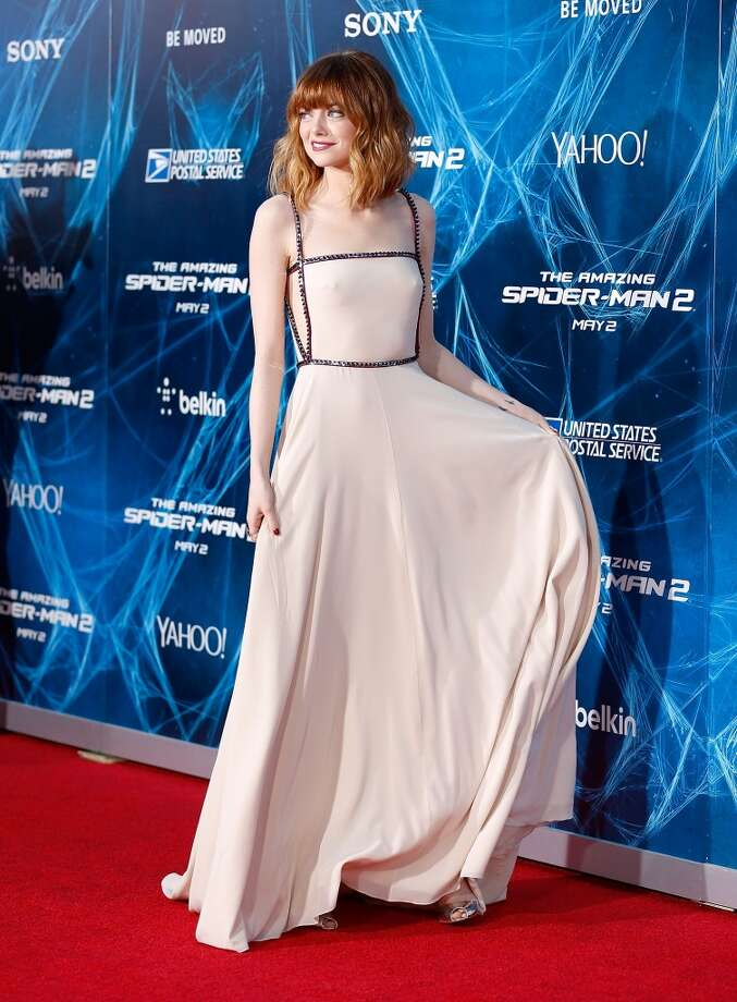 "Actress Emma Stone attends ""The Amazing Spider-Man 2"" premiere at the Ziegfeld Theater on April 24, 2014 in New York City. Photo: Jemal Countess, Getty Images"