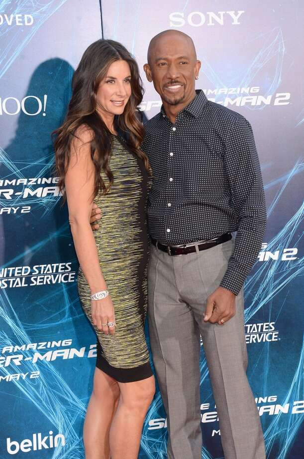 "Talk show host Montel Williams (R) and wife Tara Fowler attend ""The Amazing Spider-Man 2"" premiere at the Ziegfeld Theater on April 24, 2014 in New York City. Photo: Jamie McCarthy, Getty Images"