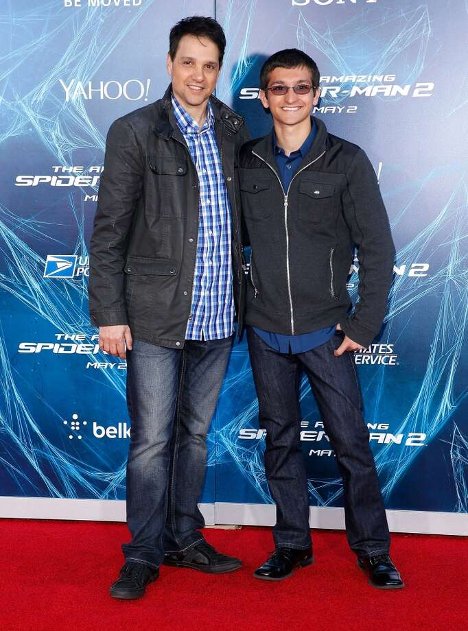 "Actor Ralph Macchio and Daniel Macchio attend ""The Amazing Spider-Man 2"" premiere at the Ziegfeld Theater on April 24, 2014 in New York City. Photo: Jemal Countess, Getty Images"