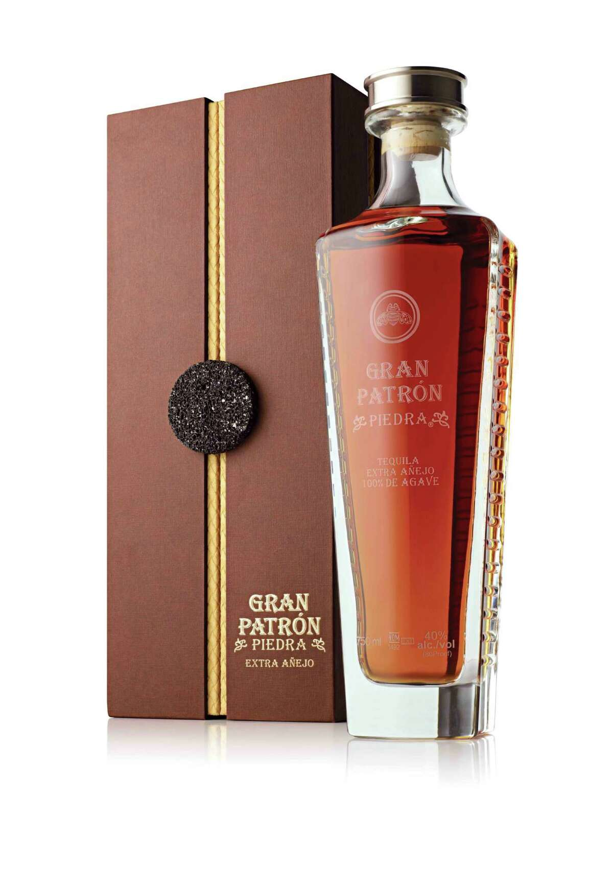 Patron Spirits has just released the limited-production Gran Patron Piedra, the brand s first extra anejo tequila. Aged for more than three years in new American and French oak barrels, the super elite tequila boasts a complex flavor profile with a distinct oak taste; $399.