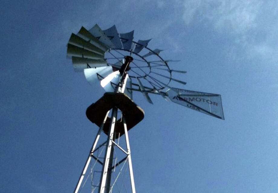 The century-old, large windmill at Happy Landings Farm on Route 25 in Brookfield, Conn. Photo: Nanci Hutson/ File, Nanci Hutson / The News-Times