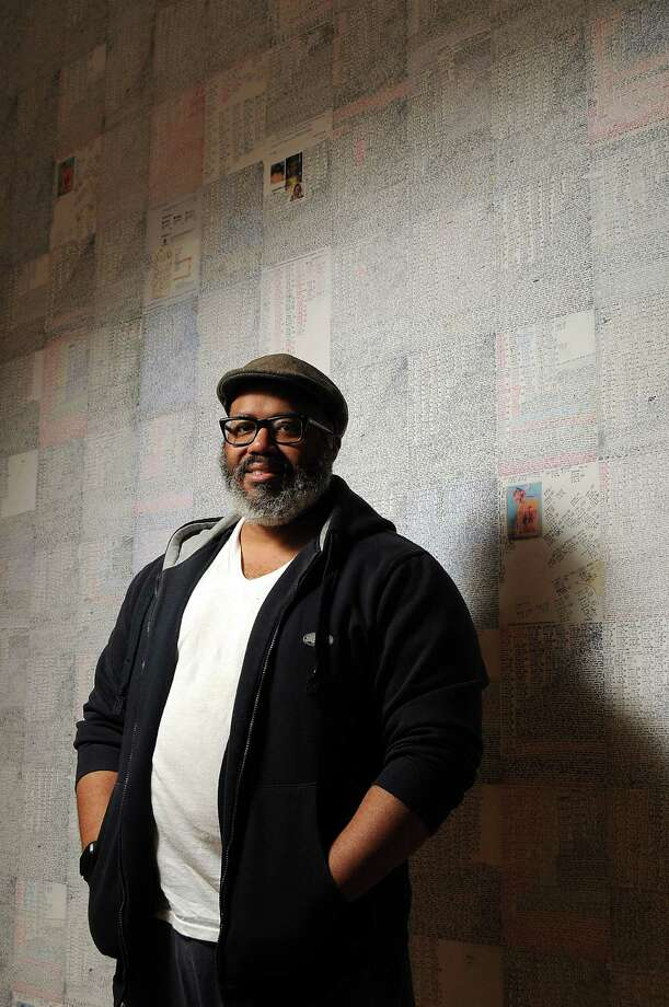 """Artist Trenton Doyle Hancock says the work in his retrospective, """"Skin and Bones, 20 Years of Drawing,"""" is darker than the work he did for the Hermann Park train tunnel. Photo: Dave Rossman, Freelance / Freelance"""
