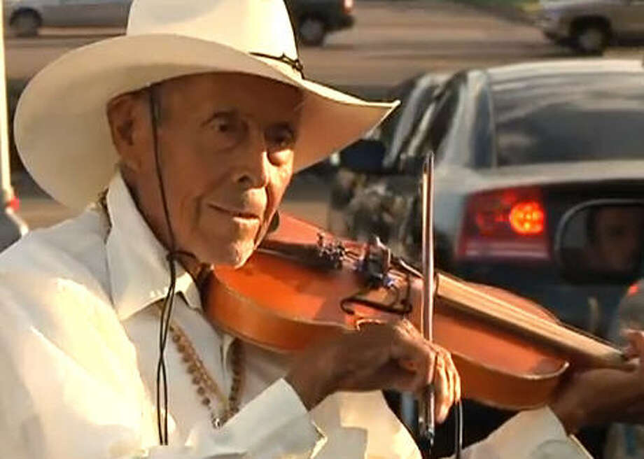 Don Luis Cruz, fondly known as The Violin Man, entertained countless drivers on the city's southeast side, performing on sidewalks near busy intersections. He died earlier this year.   His love of music was rewarded with tips and kind words from passersby. He left behind his 87-year-old wife, Emilia, six daughters, four sons, and numerous grandchildren. Photo: Family Photos