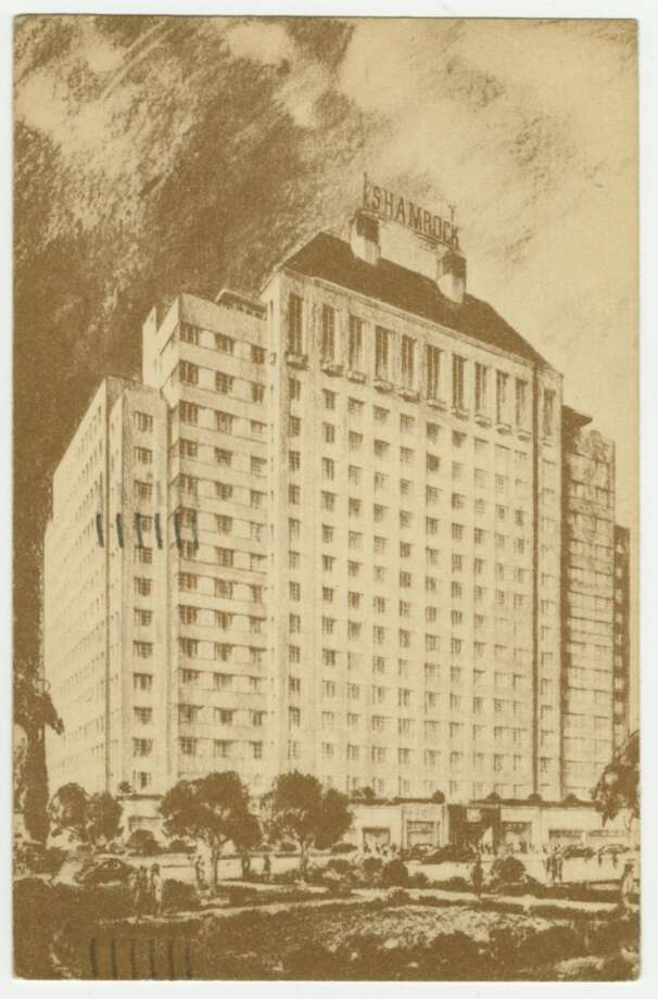 The Shamrock Hotel, in postcard form. Photo: 175 Houston Postcard